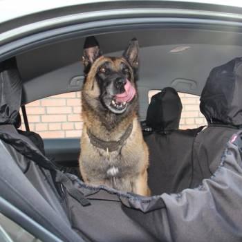 Автогамак для перевозки собак в машине OSSO Car Premium 125x170 Grey с защитой обивки дверей