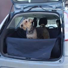 """Автогамак """"OSSO Car Premium"""" для перевозки собак с защитой обивки в багажник (серый)"""