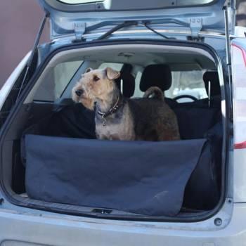 Автогамак для перевозки собак в багажнике OSSO Car Premium Grey