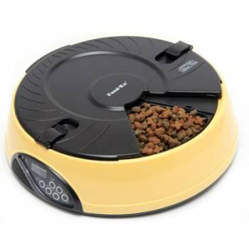 Автоматическая электронная кормушка для кошек и мелких пород собак Feed-Ex PF6 Yellow