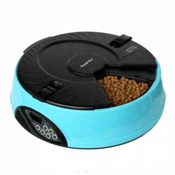 Автоматическая электронная кормушка для кошек и мелких пород собак Feed-Ex PF6 Blue