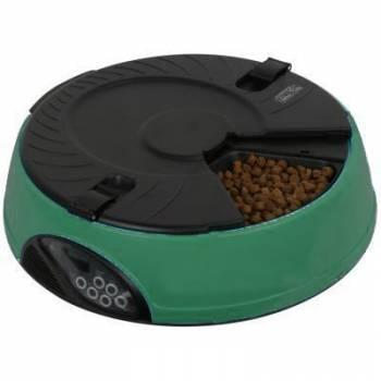 Автоматическая электронная кормушка для кошек и мелких пород собак Feed-Ex PF6 Green