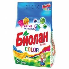 """Порошок стиральный Биолан """"Color"""", автомат, для цветного белья, 2,4 кг"""