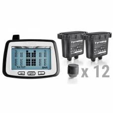 Датчики давления в шинах грузового автомобиля TPMS CRX-1012/W12.2 (комплект 12 внешних датчиков)