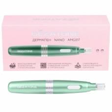 Электрический мезороллер - дермапен Gezatone AMG517 для фракционной мезотерапии лица (зеленый)