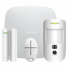 Сигнализация GSM Ajax StarterKit Cam Plus white