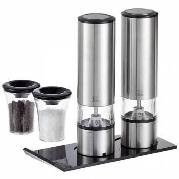 Набор электрических мельниц Peugeot Duo Sense Elis для соли и перца с подставкой, 20 см
