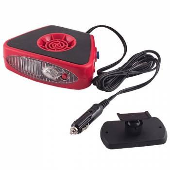 Обогреватель салона автомобиля SKYWAY керамический, в прикуриватель 12V, с фонарем