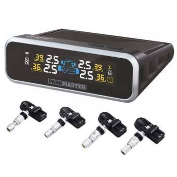 Система контроля давления и температуры в шинах ParkMaster TPMS 4-22 на солнечных батареях (4 внутренних датчика)