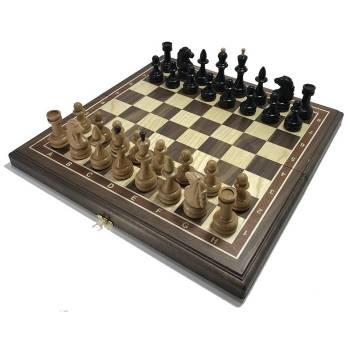 Шахматы американский орех 45 Лидер, деревянные