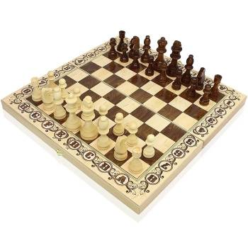 Шахматы Дебют 40x40 см, деревянные