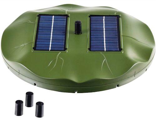 Фонтан имеет собственные солнечные панели и не нуждается во внешнем источнике питания. Никаких проводов и одноразовых батареек! (кликните для увеличения)